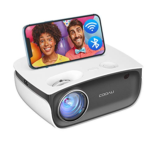 Portable Projector with WiFi Bluetooth, COOAU A1 1080P Supported HD Projector for Outdoor Movies, 6000 lumens Mini Home Projector, Compatible TV Stick, HDMI, Laptop, DVD, iOS, Android