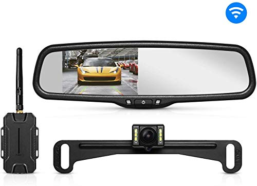 AUTO-VOX T1400 Upgrade Wireless Backup Camera Kit, Easy Installation with No Wiring, No Interference, OEM Look with IP 68 Waterproof Super Night Vision Rear View Camera