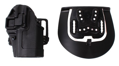 BLACKHAWK Serpa CQC Belt Loop and Paddle Holster For Glock 17/22/31 Right Hand Black