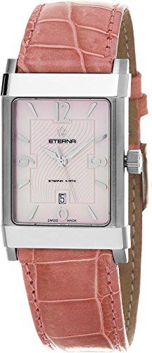 Eterna 1935 Eterna-Matic Women's Pink Leather Strap Swiss Automatic Watch 8491.41.80.1161D