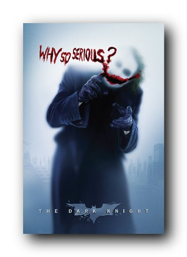 Batman: the Dark Knight Movie: Joker (Heath Ledger) 'Why So Serious' Wall Poster (Rolled) 24' x 36'