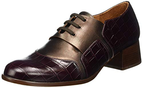 Chie Mihara Women's Oxford Lace-Up Flat, Grape, US-0 / Asia Size s