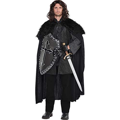 AMSCAN Halloween Costume Black Fur Cloak for Men, One Size