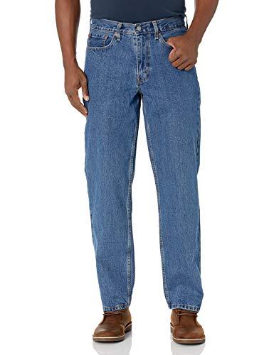 Levi's Men's 550 Relaxed Fit Jeans, Medium Stonewash, 33W x 32L
