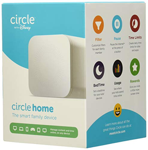 Circle Home Plus (2nd Gen) | Parental Controls - Internet & Mobile Devices | Works on Wifi, Android & iOS Devices | Control Apps, Set Screen Time Limits, Block & Filter Content