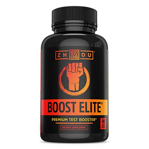 BOOST ELITE Test Booster Formulated to Increase T-Levels & Energy - 9 Powerful Ingredients Including Tribulus, Fenugreek, Yohimbe, Maca & Tongkat Ali, 90 Veggie Caps
