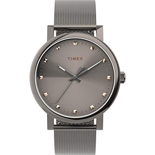 Timex Women's Originals 38mm Analog Quartz Stainless Steel Strap, Gray, 18 Casual Watch (Model: TW2U05600)