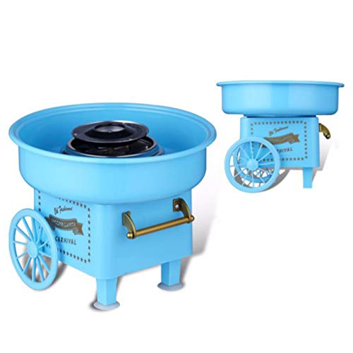Electric Cotton Candy Maker,Electric Cotton Candy Machine Sugar Floss Maker Mini Countertop Cotton Candy Maker for Home Birthday Family Party (B)