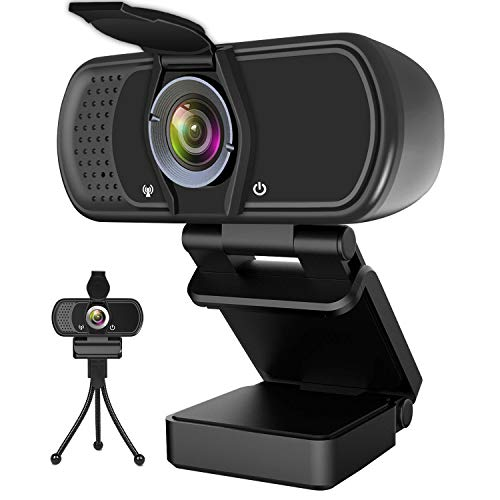 Hrayzan Webcam 1080P,HD Webcam with Microphone, PC Laptop Desktop USB Webcams with 110 Degree Wide Angle, Computer Web Camera with Rotatable Clip