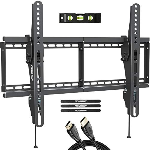 MOUNTUP Tilting TV Wall Mount Bracket for Most 37-70 Inches TVs, TV Mount with 10 Degrees Smooth Tilt, Low Profile TV Wall Mount, Easy Install on 16', 18', 24' Studs Loading Capacity 110 lbs MU0008