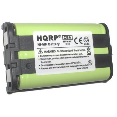 HQRP Telephone Battery Compatible with Panasonic KX-TG2336 KX-TG2343 KX-TG2386 KX-TG2388 KX-TG2480 KX-TG4500 Cordless Phone System Plus Coaster