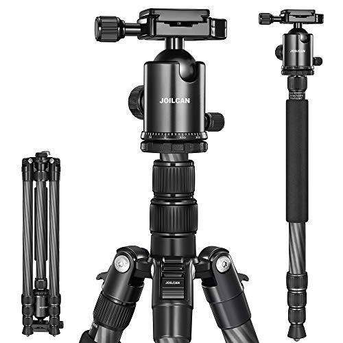 JOILCAN 81' Camera Tripod,Professional Tripod Monopod with 360 Degree Ball Head and Carrying Case for Travel and Work Load up to 35Ibs