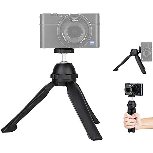 JJC Vlog Camera Mini Tabletop Tripod Stand Handheld Tripod for Sony ZV-1 RX100 VII A6000 A6100 A6300 A6400 A7C Canon G7X Mark III II EOS M50 R R5 R6 RP Nikon Z50 Z5 Z6 Z7 Panasonic G100 GX85 & More