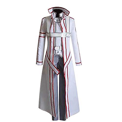 YuanCos Knights of The Blood Uniform Kirito Kirigaya Kazuto White Cosplay Costume (CustomMade)