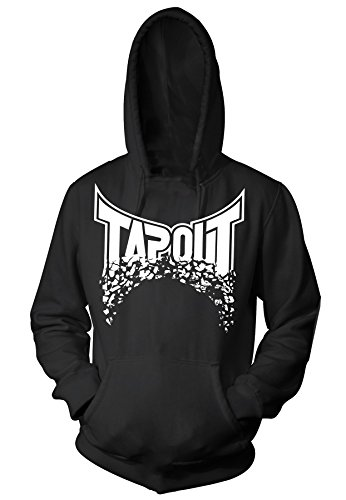 TapouT Broken Pieces Pull Over Hoodie (Small, Black)
