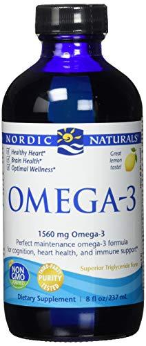 Nordic Naturals Omega-3, Lemon Flavor - 1560 mg Omega-3-8 oz - Fish Oil - EPA & DHA - Immune Support, Brain & Heart Health, Optimal Wellness - Non-GMO - 48 Servings