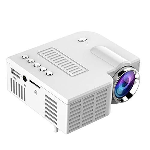 KINGONE Ruijuxin Miniskirt Portable Projector Family LED Minor Mobile Phone Projector for Children(White) (Color : White)