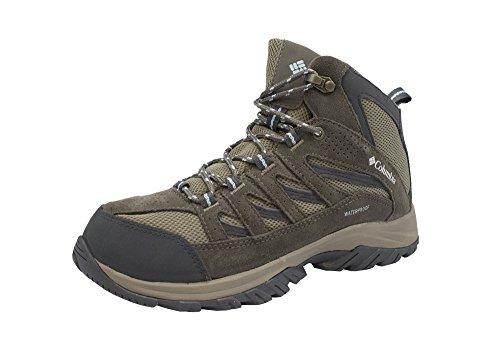 Columbia Women's Crestwood Mid Waterproof Hiking Boot,pebble, oxygen,8.5 Regular US