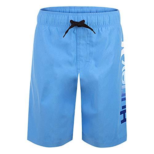 Hurley Boys' Classic Pull On Swim Trunks, Blue/Multi, S