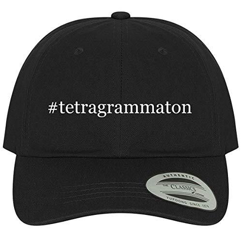 The Town Butler #Tetragrammaton - A Comfortable Adjustable Hashtag Dad Baseball Hat, Black, One Size