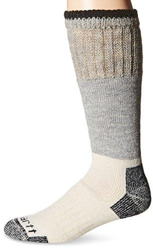 Carhartt Men's Extremes Arctic Wool Boot Crew Socks, Heather Black, Shoe Size: 6-12