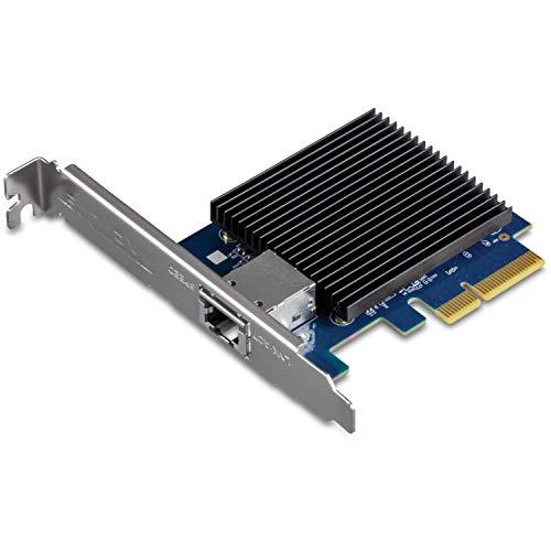 TRENDnet 10 Gigabit PCIe Network Adapter, TEG-10GECTX, Converts a PCIe Slot into a 10G Ethernet Port, Supports 802.1Q Vlan, Includes Standard & Low-Profile Brackets, Windows/Server, PCIe 2.0, PCIe 3.0