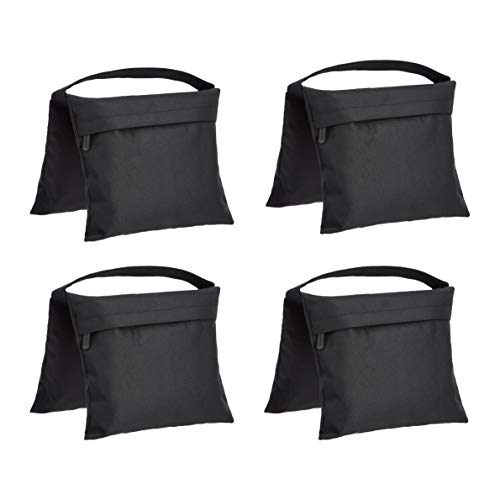 Amazon Basics Photographic Empty Sandbag for Light Stands, 4-Pack