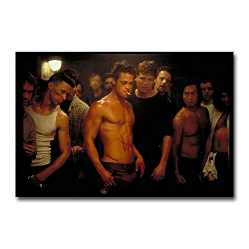 Hrytashiruma Fight Club #Brad Pitt Classic Movie Art Silk Poster Wall Art Home Decor Gifts for Lovers Painting