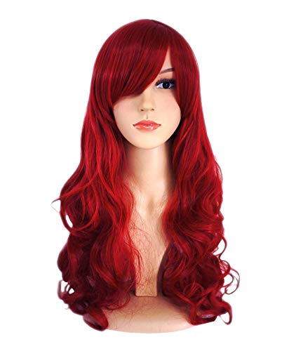 Another Me Wig Women's Long Big Wavy Hair 25 Inches Dark Wine Red Ultra Soft Heat Resistant Fiber Party Cosplay Accessories