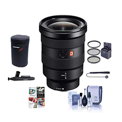 Sony FE 16-35mm f/2.8 GM (G Master) E-Mount Lens - Bundle with 82mm Filter Kit, Lens Case, Cleaning Kit, Capleash II, Lens Cleaner, PC Software Package