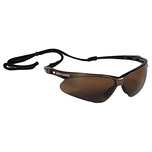 KLEENGUARD V30 Nemesis Polarized Safety Glasses (28637), Polarized Brown Lenses, Brown Frame