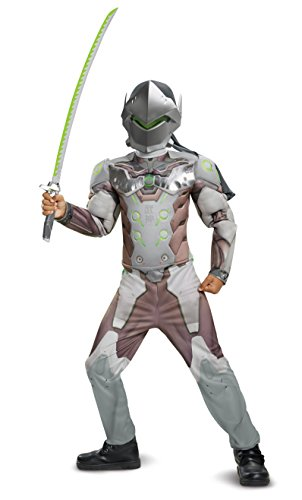 Disguise Genji Classic Muscle Child Costume, Gray, X-Large/(14-16)