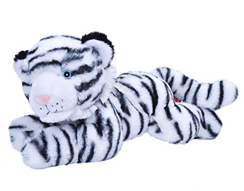 Wild Republic EcoKins White Tiger Stuffed Animal 12 inch, Eco Friendly Gifts for Kids, Plush Toy, Handcrafted Using 16 Recycled Plastic Water Bottles