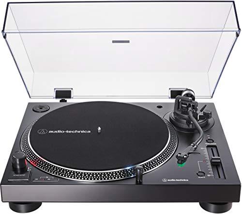 Audio-Technica AT-LP120XUSB-BK Direct-Drive Turntable (Analog & USB), Fully Manual, Hi-Fi, 3 Speed, Convert Vinyl to Digital, Anti-Skate and Variable Pitch Control Black
