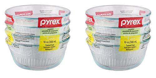 Pyrex Bakeware 10-Ounce Custard Cups Dessert Dish, Set of 8
