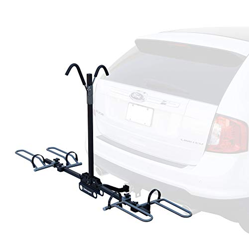 Retrospec Lenox Car Hitch Mount Tray Bike Rack with 2-inch Receiver; 2 Bicycle Carrier, Black