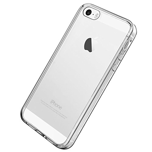Ailun Phone Case Compatible with iPhone 5s iPhone Se(2016) iPhone 5 Shock Absorption Bumper TPU Clear Cover Crystal Clear