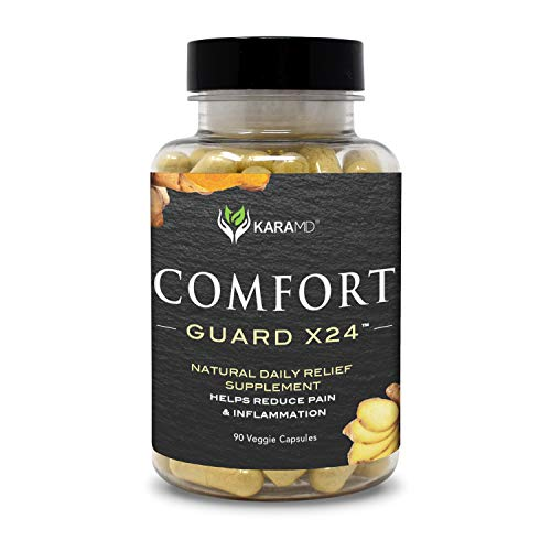 KaraMD Comfort Guard X24  Doctor Formulated Inflammation, Joint & Pain Supplement for Men & Women  Natural Non-GMO & Vegan Pain Support & Relief   95% Curcuminoids, Boswellia & Ginger, 90 Capsules