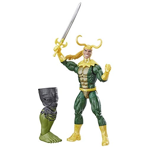 Marvel Legends Series Loki 6' Collectible Marvel Comics Action Figure Toy for Ages 6 & Up with Accessory & Build-A-Figurepiece