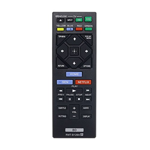 Aurabeam RMT-B126A Replacement Blu-ray Remote Control for Sony BD Bluray Player (RMTB126A / 149267811)