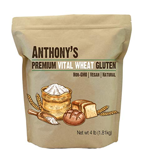 Anthony's Vital Wheat Gluten, 4 lb, High in Protein, Vegan, Non GMO, Keto Friendly, Low Carb