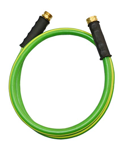 HQMPC Garden Hose Durable PVC Non Kinking Heavy Water Hose with Brass Hose Fittings (5/8'x5'(5 FEET))