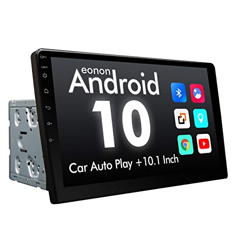 2020 Double Din Car Stereo, Android 10 10.1 Inch Radio with Bluetooth 4.0, Eonon Car Radio Android Head Unit Car Stereo with Navigation with WiFi/Fast Boot/Backup Camera(NO DVD/CD)-GA2187