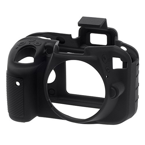 EasyCover ECND3300B Silicone Camera Case for Nikon D3300/3400 (Black)