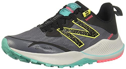 New Balance Women's DynaSoft Nitrel V4 Trail Running Shoe, Lead/Tidepool, 7.5
