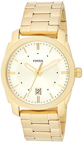 Fossil Men's FS5264 Machine Three-Hand Date Gold-Tone Stainless Steel Watch