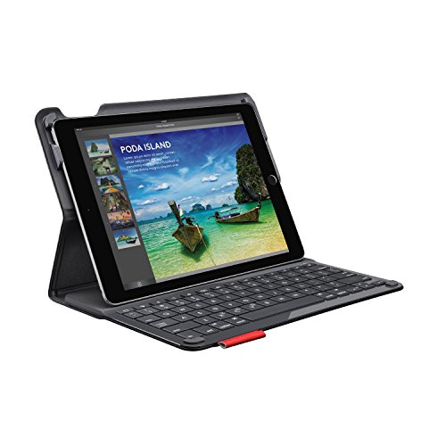 Logitech Type+ Protective iPad Air 2 (ONLY) Case with Integrated Keyboard – Two Viewing Positions – Designed for Typing and Tapping – Powered with Wireless Bluetooth – 30-Foot Wireless Range – Black
