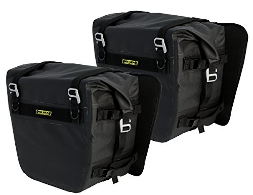 Nelson Rigg (SE-3050-BLK) Sierra Dry Saddlebags 100% Waterproof Mount to most Adventure and Dual Sport Motorcycles