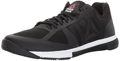 Reebok Men's CROSSFIT Speed TR 2.0 Cross-Trainer Shoe, Black/White/Primal Red, 9.5 M US