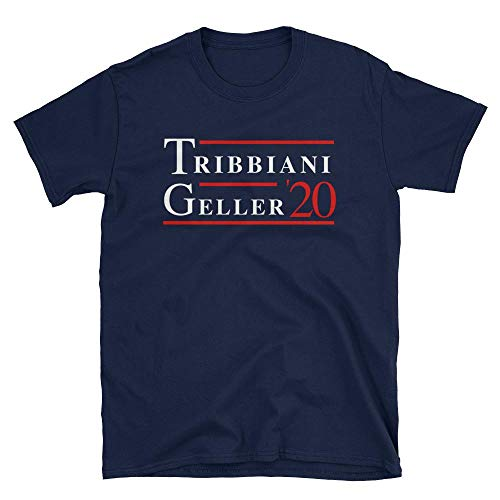 Friends TV Show Joey Tribbiani Ross Geller 2020 Tshirt, Funny Novelty Gift Idea for Fans, Printed in USA Navy